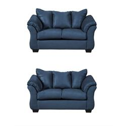 Ashley Darcy Navy Loveseat (set of two) 7500735(2) Image