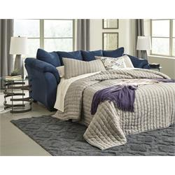 Ashley Darcy Navy Sleeper Sofa 7500736 Image