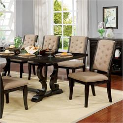 FOA Rustic Dark Walnut Dining Room Set CM3577WN-T-7PC Image